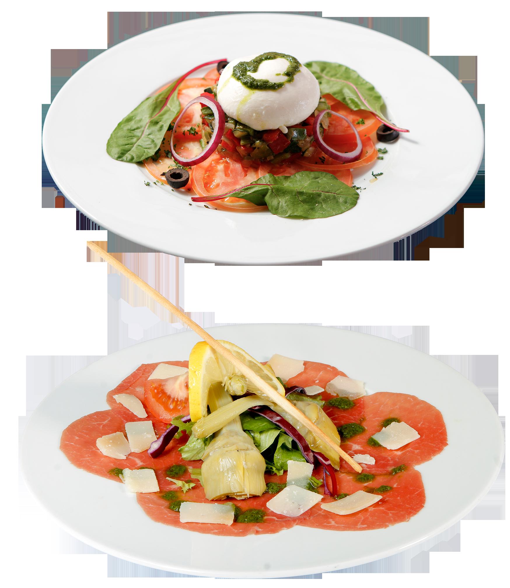 Mozzarella burrata + Carpaccio