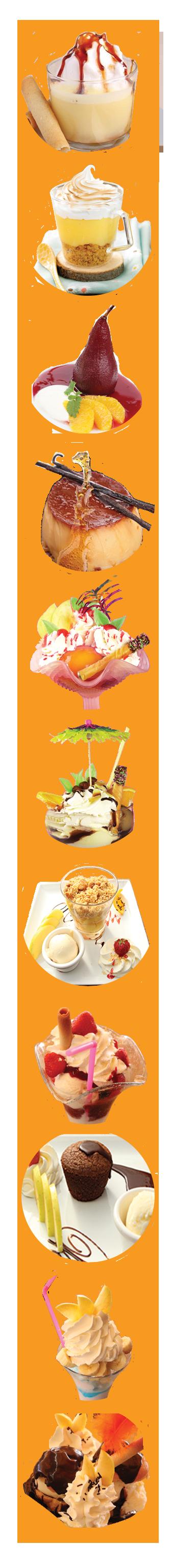 desserts - arlequin - restaurant - cap d'agde -